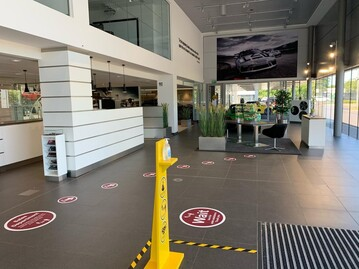 Social distancing at a JCT600 Porsche Centre