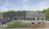 Artist's impression: Spire Automotive Ltd's planned JLR showroom in Watford