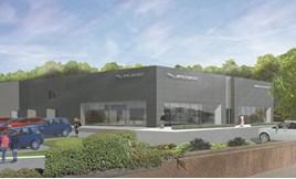 Artist's impression: Spire Automotive Ltd's planned JLR showroom in Watford