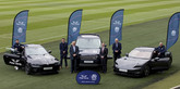 Left to right: Scotland player, Ali Price; Scottish Rugby Chief Operating Officer, Dom McKay; Chairman of the Peter Vardy Group Sir Peter Vardy DL; Peter Vardy Group Chief Executive, Peter Vardy; Scottish Rugby CEO, Mark Dodson; and Scotland Head Coach, Gregor Townsend.