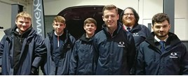 SsangYong UK apprentices (from left): Jonathan Wheeler, Chandlers; Kieran Metcalfe, Maple Garage; Alex Cook, Platinum Garage; Paul Dornan (SAP Trainer); Alexander Gilbert Rogers, of Plymouth; and Andrew Smith, from the  SYMUK Port Operation.