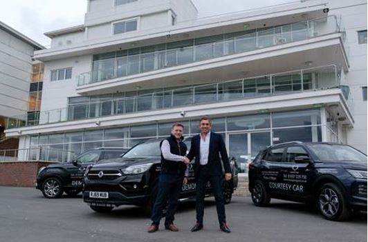 Jonjo Sanderson, chief executive and clerk of the course, Wetherby Racecourse and Paul Sanderson, managing director of SsangYong York