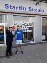 Startin Suzuki St Peter's Worcester Paul Bothma, sales manager and Dave Pountney, parts manager