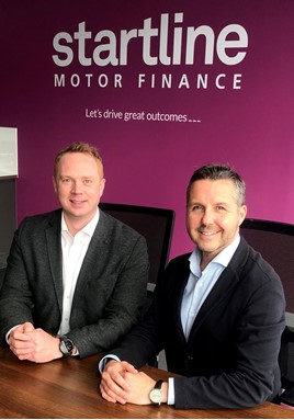 Startline Motor Finance's Gregor Sutherland (left) and Paul Burgess
