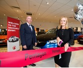 Vauxhall Motors sales director, Stephanie Howson,with Rob Schofield, Pentagon Group's brand director for Vauxhall and Kia