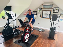 Steve Bridge, managing director at Mercedes-Benz Vans UK, cycling 1,000 miles to raise money for Cancer Research UK
