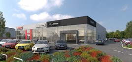 Steven Eagell Group's new Kings Lynn Toyota franchise and Lexus used car sand aftersales site