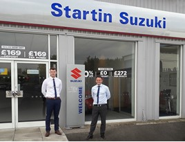 Paul Bothma, sales manager and Jack Dakin, sales executive for Startin Suzuki