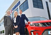 Suzuki regional managers Joe Skinner, Louise Kelly, Tim Whitworth