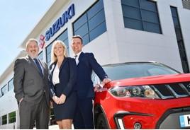 Suzuki regional managers Joe Skinner, Louise Kelly, Tim Whitworth