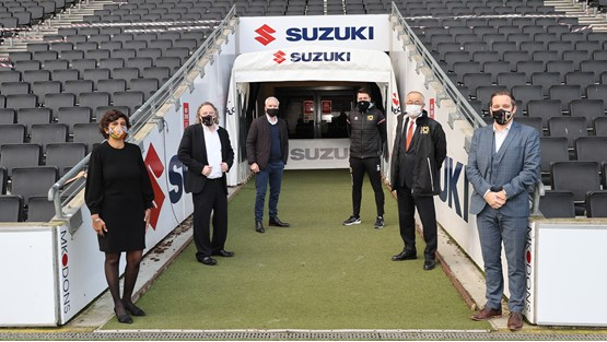 Suzuki GB has renewed its sponsorship of MK Dons football club