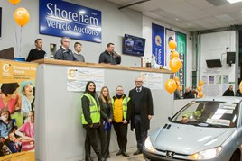 The team at Shoreham Vehicle Auctions at the charity sale in aid of Chestnut Tree House children's hospice