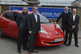 A team from the Energy Saving Trust at Shoreham prior to the free EV sessions