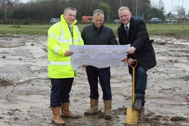 David Smyth, Swansway Group director; Andrew West, aftersales director, Jaguar Land Rover; Peter Smyth, Swansway Group director.