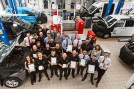 The winning team at Swansway Garages' Volkswagen Liverpool Van Centre