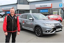 Alun Rossiter with his Mitsubishi Outlander PHEV