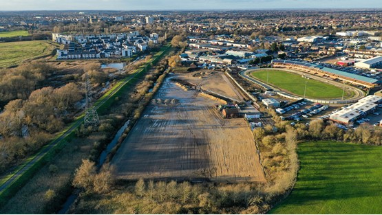 The six acres of land acquired by SW Car Supermarkets in Peterborough