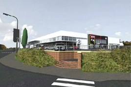 Plans of the new Sytner showroom in Sheffield, drawn-up by AT Architects Limited
