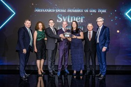 Sytner Group's North East representatives collect the Mercedes-Benz Retailer of the Year award