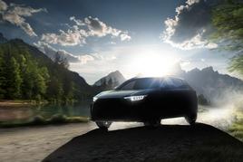 Teaser image: the electric Subaru Solterra SUV