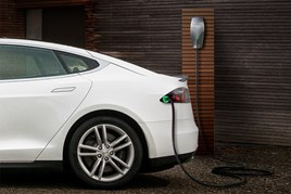 A Tesla Destination Charging charge point