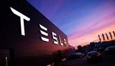 Tesla EV store illuminated signage