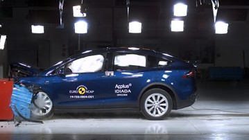 Tesla Model X scored five stars in Euro NCAP safety tests