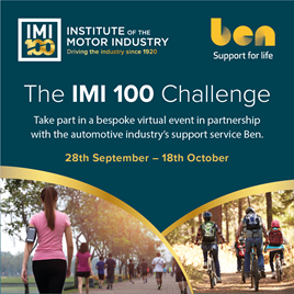 The IMI 100 challenge graphic
