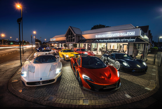 mans International's existing supercar showroom in Banstead, Surrey
