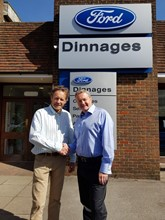 Daniel Broyd owner of Dinnages and John Matthews business development director at RAA
