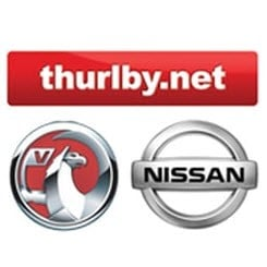 Thurlby Motors Vauxhall and Nissan logos