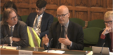 BVRLA director of corporate affairs, Toby Poston, addresses the House of Commons' Transport Select Committee