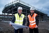 Tom Preston, managing director of Hippo-Motor Group (left) and and Mark Whalley, site manager, Barnfield Construction