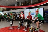 TrustFord Castleford's festive spinathon in aid of Cancer Research UK