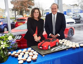Elena Ford, chief customer experience officer of Ford Motor Company officially opens TrustFord's new Cribbs Causeway Fordstore alongside group chairman and chief executive, Stuart Foulds