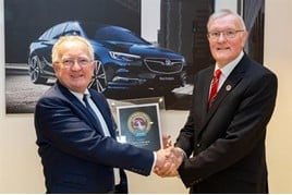 Stephen Norman, Vauxhalls Group managing director, and John Twells, dealer principal at Twells of Billinghay
