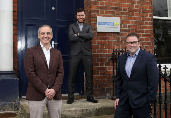 Used Cars NI management team: Dr Cecil Hetherington, chairman; Colin Quigg, business development manager; and Stephen Kelly, managing director.