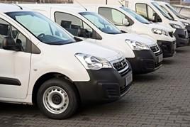 Vans LCVs stock image