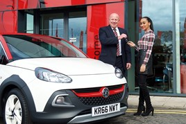 Kevin Herridge, general manager at Bristol Street Motors Vauxhall Northampton and competition winner Akilah Bonfield