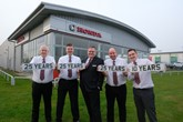 Vertu Honda's Stockton faithful: Craig Swainston, David Hembury, Martin Boagey, Andy Price and Matthew Bacon.