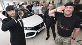 Pictured (from left): Billy Taylor, Vertu Honda Sunderland general manager with representatives from Veterans in Crisis Sunderland