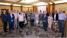 Vertu Motors longest-serving staff gathered at Slaley Hall in Northumberland