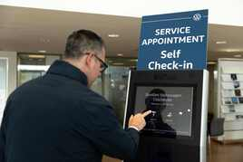 Volkswagen airport-style digital self-check-in kiosks