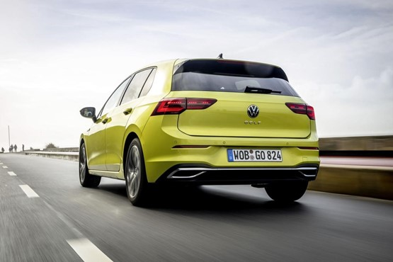 The new Volkswagen Golf 8 rear view