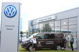 Off to Rio: Ellie (left) and Becky Downie receive extra support from Volkswagen Van Centre Nottingham