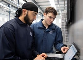 Volvo Car UK apprentice technicians