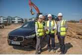 Volvo Car UK network development manager Anne Chamberlain; John O'Hanlon, chief executive, Waylands Volvo; and Ioan Rees, senior development manager, Kier Property