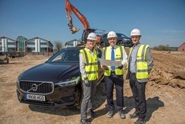 Volvo Car UK network development manager Anne Chamberlain; John O'Hanlon, chief executive, Waylands Volvo; and Ioan Rees, senior development manager, Kier Property
