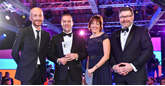Heritage Automotive awards win: Volkswagen UK head of sales Rod McLeod, Chris Samson (Heritage), Volkswagen UK brand director Alison Jones and Kevin Rendell, Volkswagen UK head of service and parts