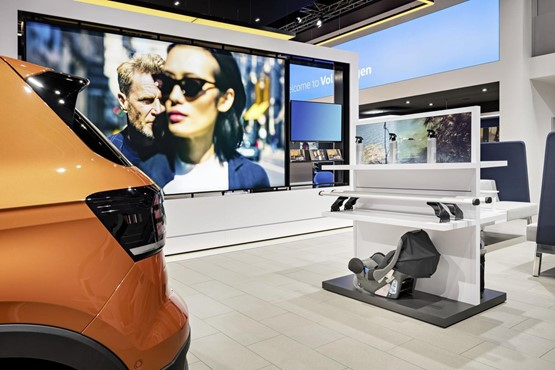 "A workshop area at the ""Brand Experience New Volkswagen"" congress in Wolfsburg"